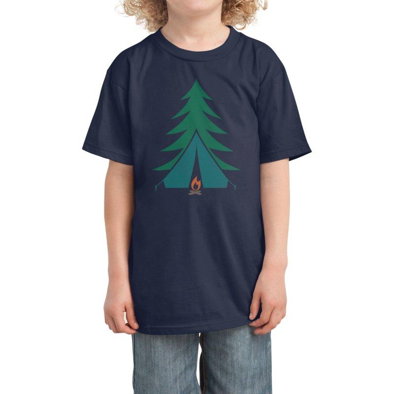 Camping Time Kids T-Shirt by Threadless Artist Shop