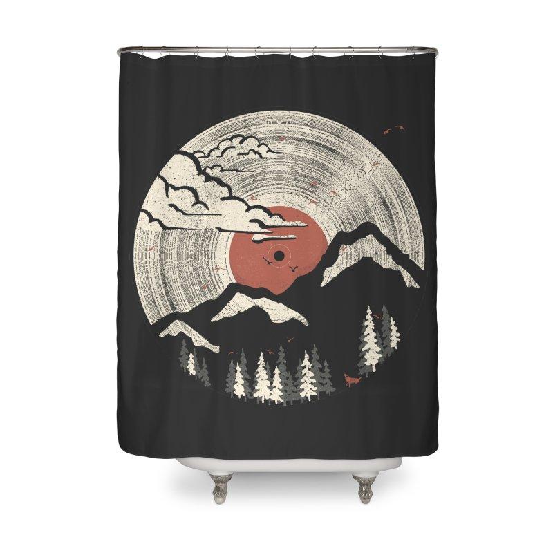MTN LP Home Shower Curtain by Threadless Artist Shop