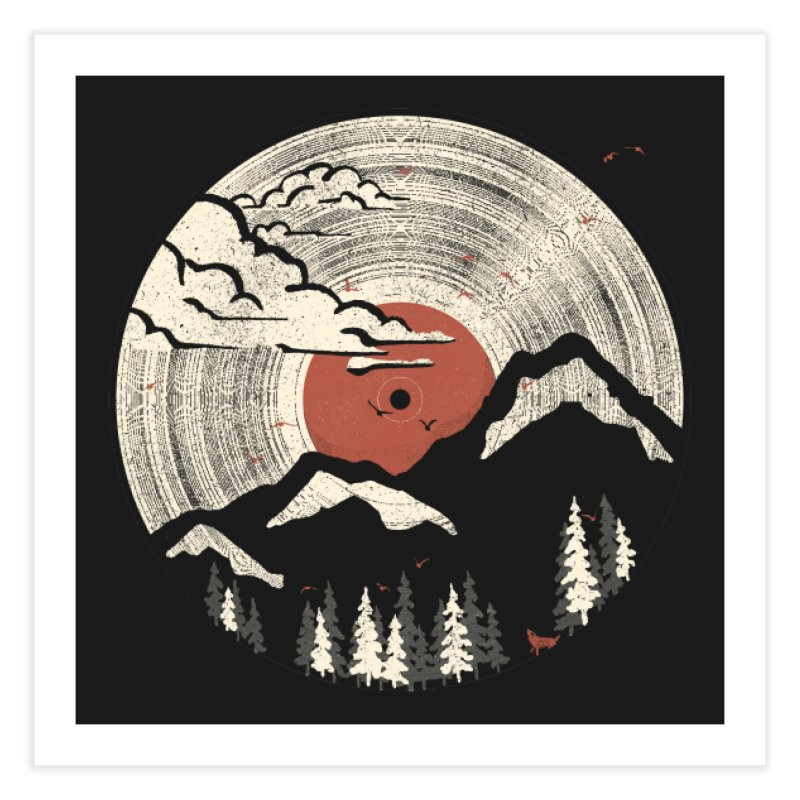 MTN LP Home Fine Art Print by Threadless Artist Shop