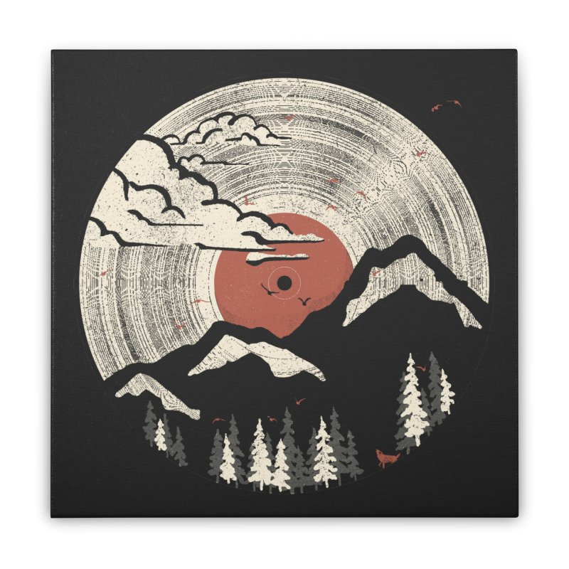 MTN LP Home Stretched Canvas by Threadless Artist Shop