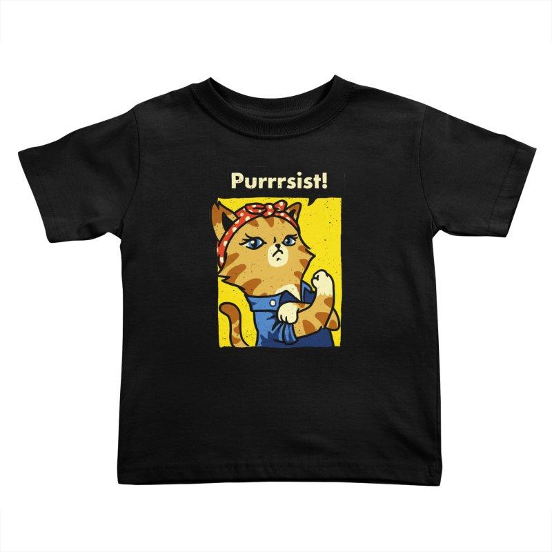 Purrrsist! Kids Toddler T-Shirt by Threadless Artist Shop
