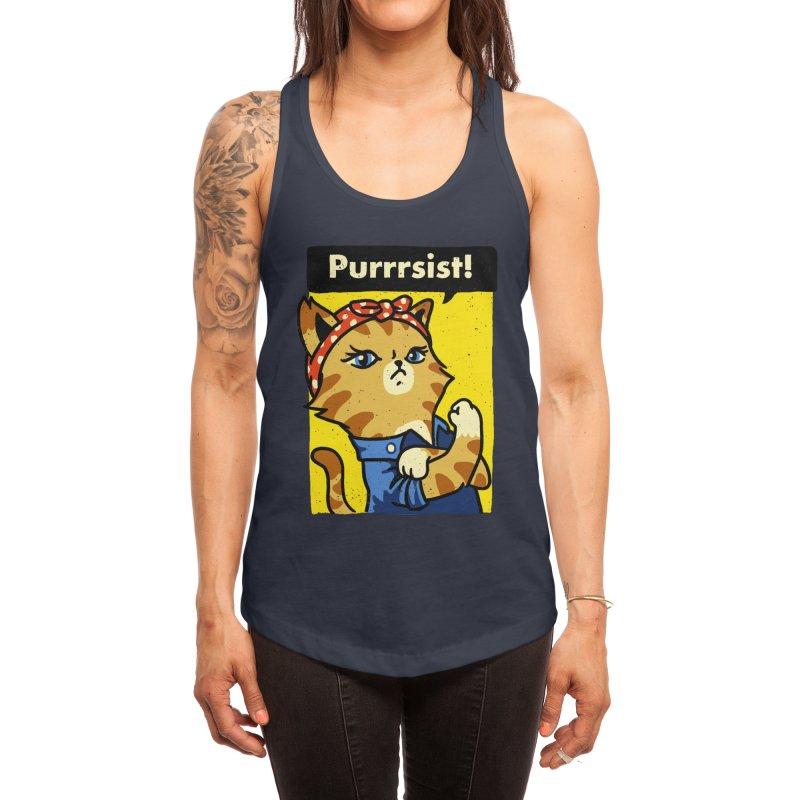 Purrrsist! Women's Tank by Threadless Artist Shop