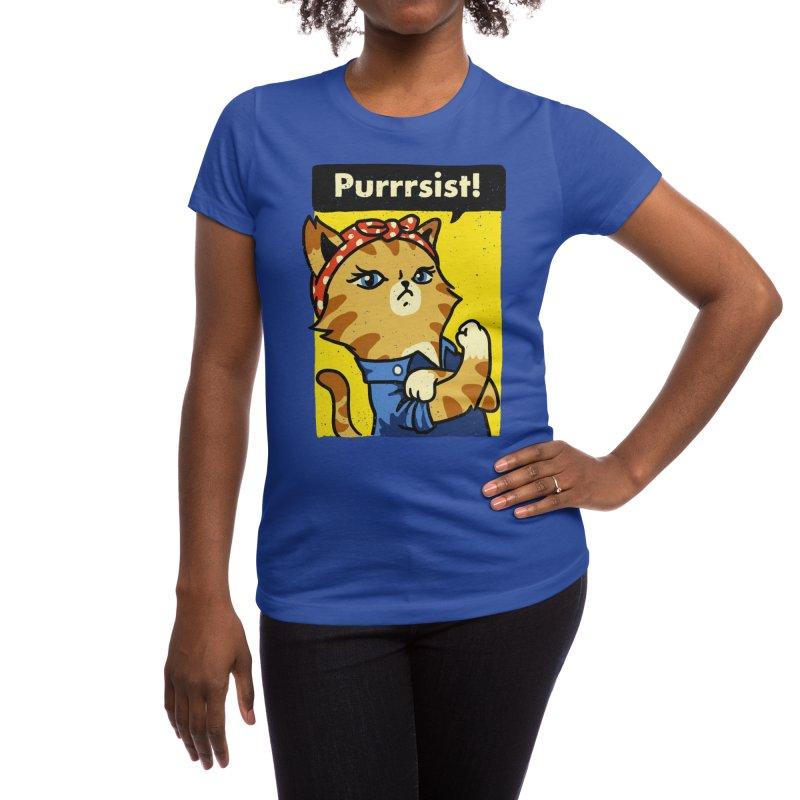 Purrrsist! Women's T-Shirt by Threadless Artist Shop