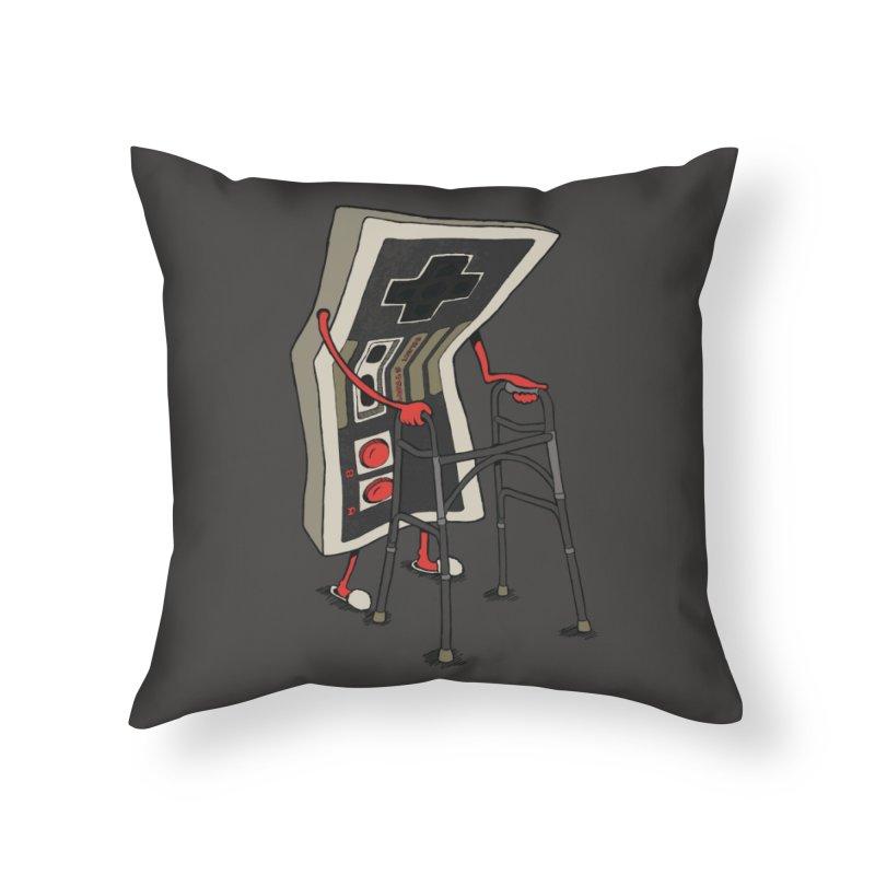 Old Gamer Home Throw Pillow by Threadless Artist Shop