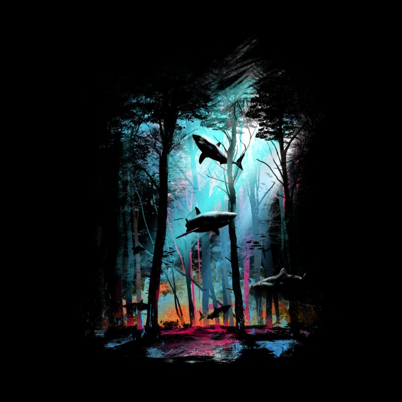 Shark Forest Men's T-Shirt by Threadless Artist Shop