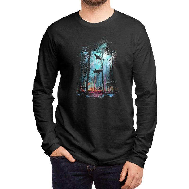 Shark Forest Men's Longsleeve T-Shirt by Threadless Artist Shop