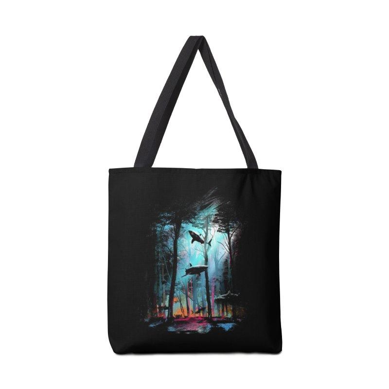 Shark Forest Accessories Bag by Threadless Artist Shop