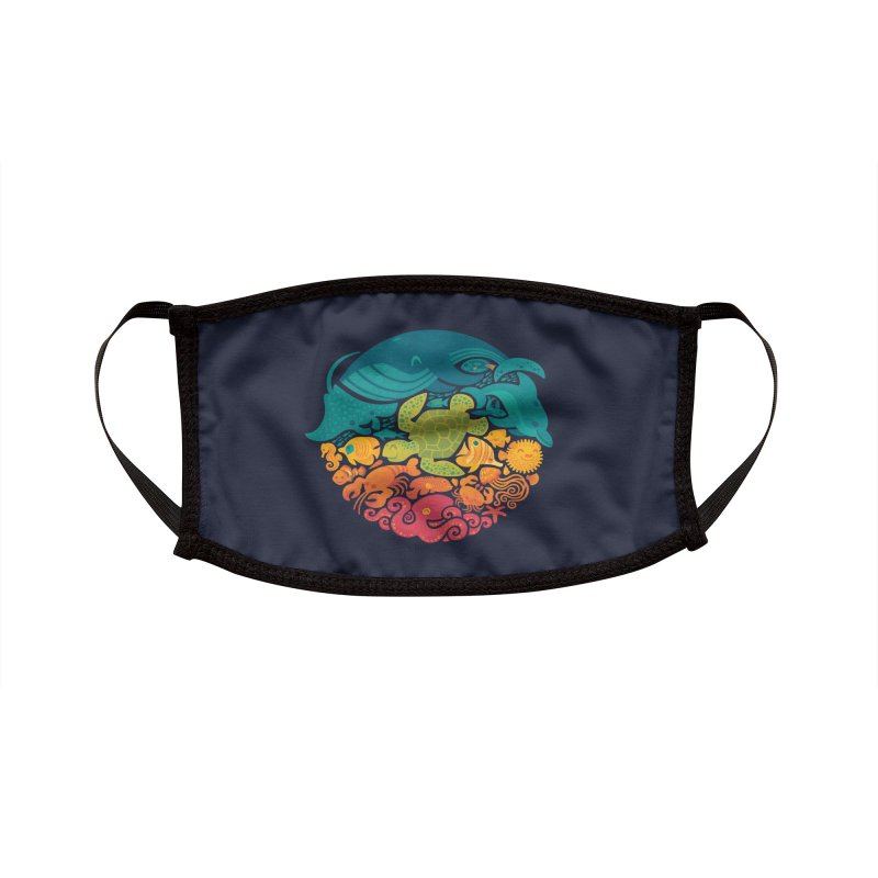 Aquatic Rainbow Accessories Face Mask by Threadless Artist Shop