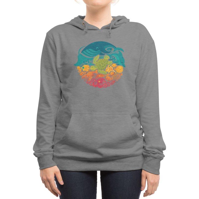 Aquatic Rainbow Women's Pullover Hoody by Threadless Artist Shop