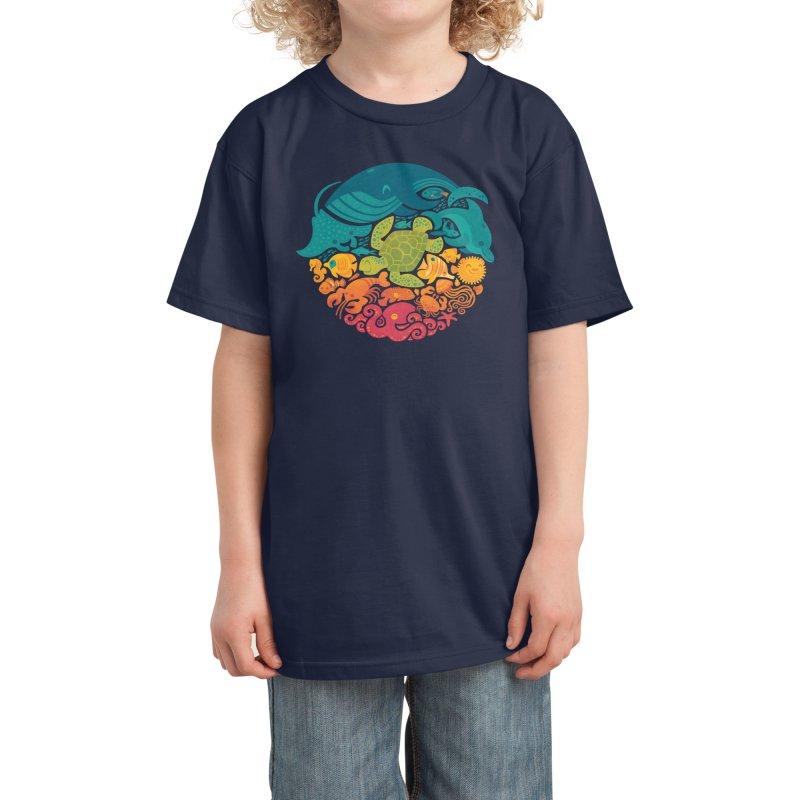 Aquatic Rainbow Kids T-Shirt by Threadless Artist Shop