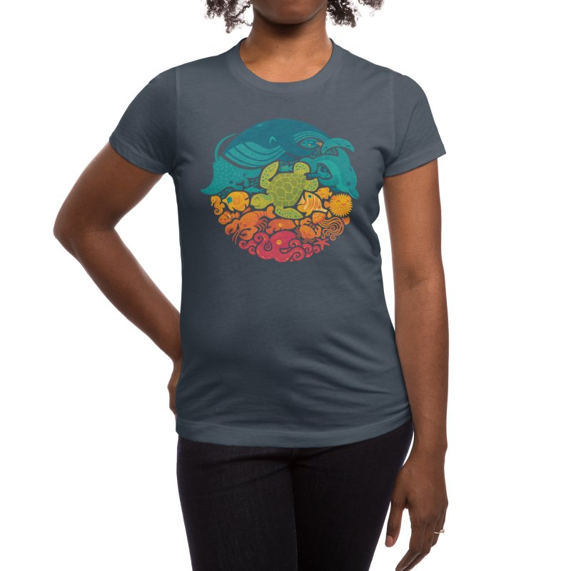 Aquatic Rainbow Women's T-Shirt by Threadless Artist Shop