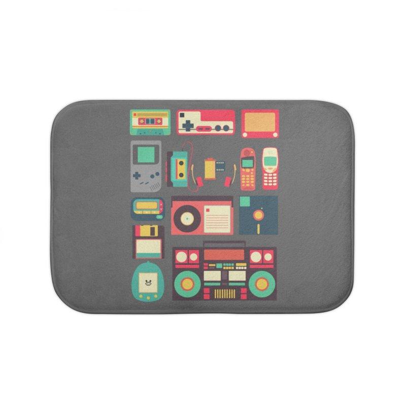 Retro Technology Home Bath Mat by Threadless Artist Shop