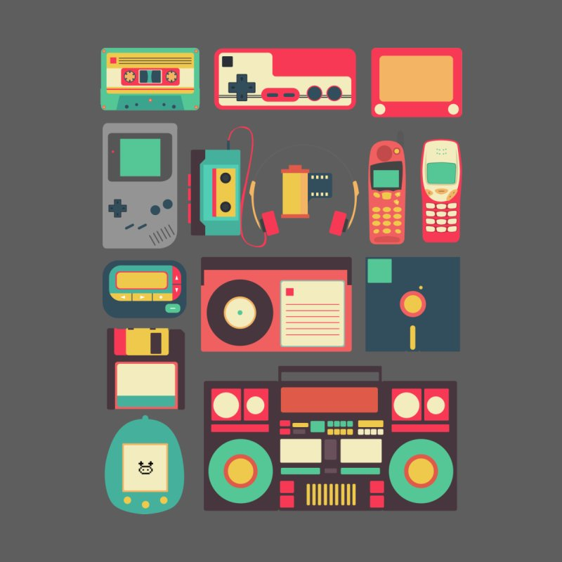 Retro Technology Men's T-Shirt by Threadless Artist Shop
