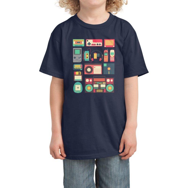 Retro Technology Kids T-Shirt by Threadless Artist Shop