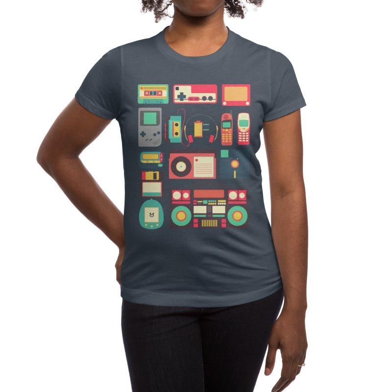 Retro Technology Women's T-Shirt by Threadless Artist Shop