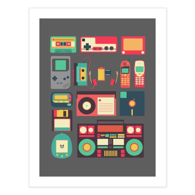 Retro Technology Home Fine Art Print by Threadless Artist Shop