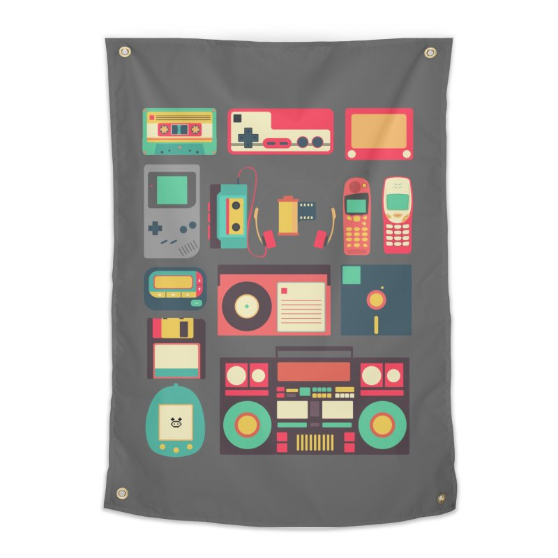 Retro Technology Home Tapestry by Threadless Artist Shop