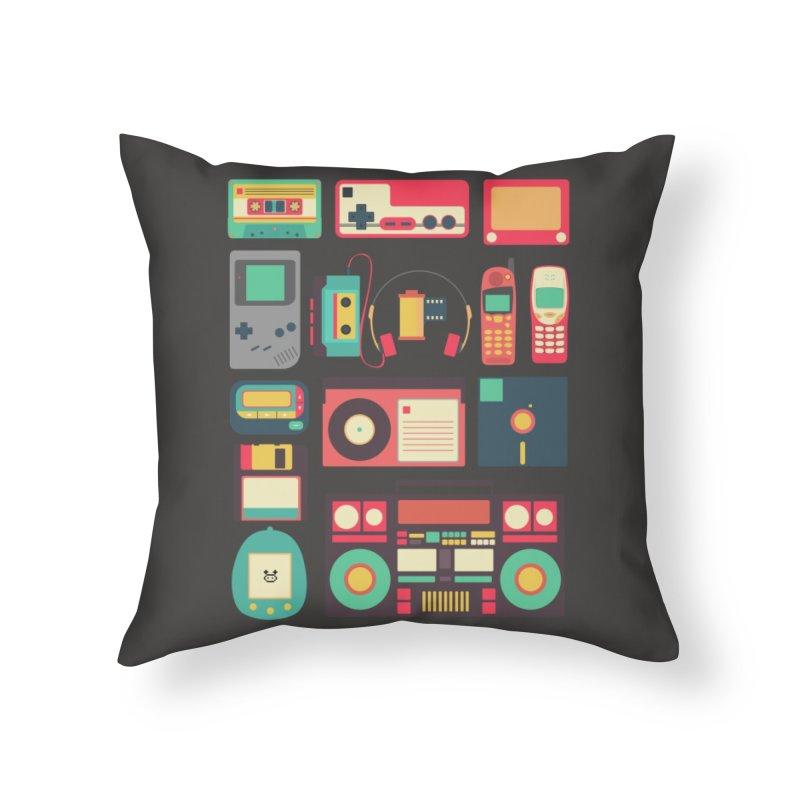 Retro Technology Home Throw Pillow by Threadless Artist Shop
