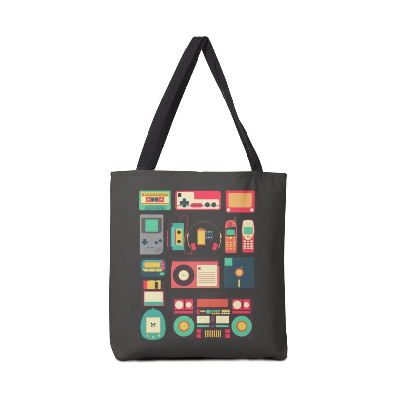 Retro Technology Accessories Bag by Threadless Artist Shop