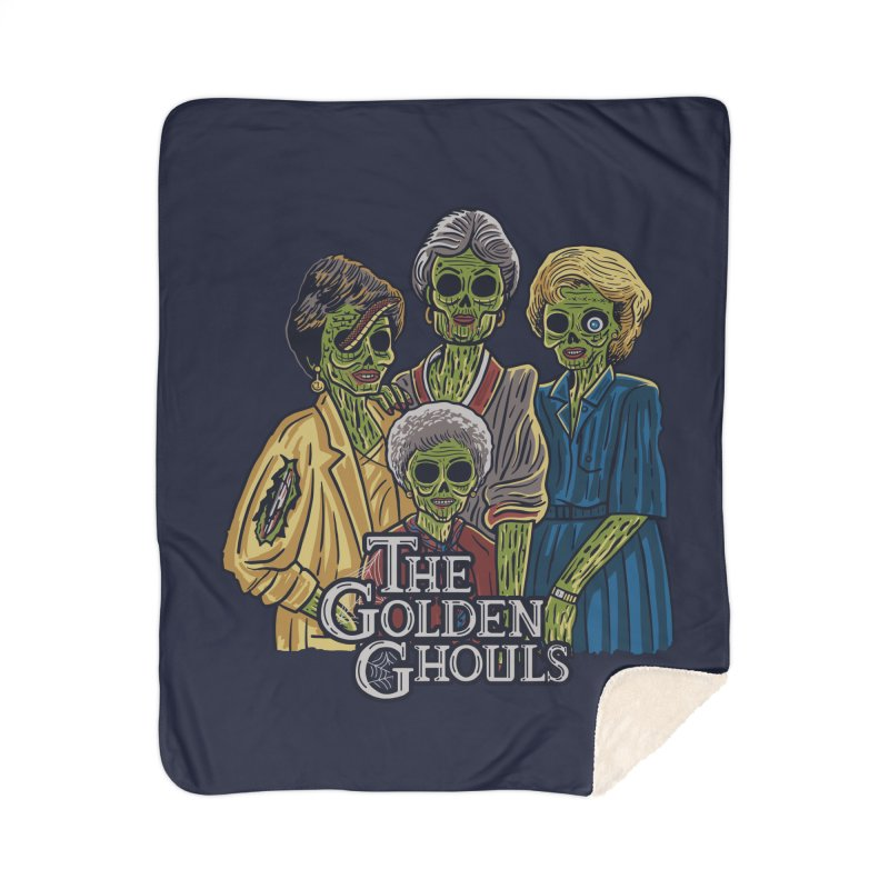 The Golden Ghouls Home Blanket by Threadless Artist Shop