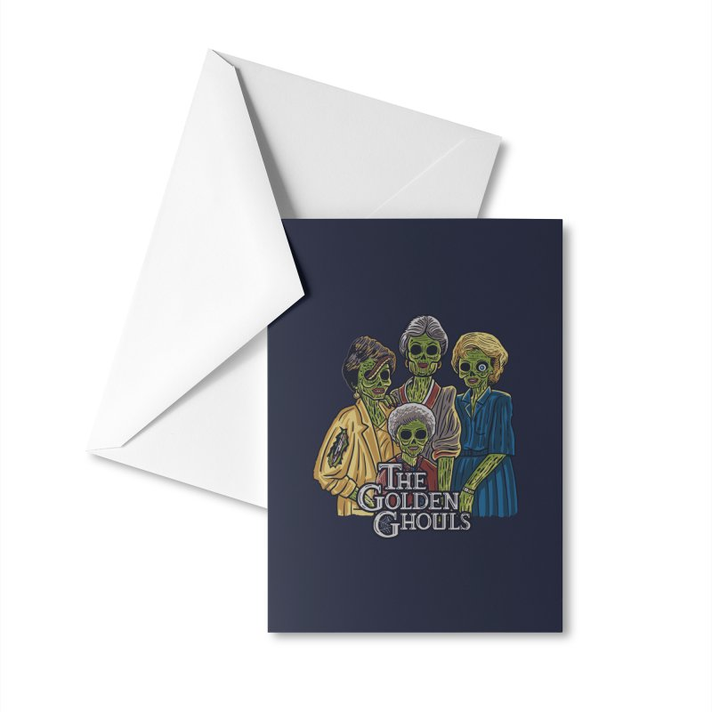 The Golden Ghouls Accessories Greeting Card by Threadless Artist Shop