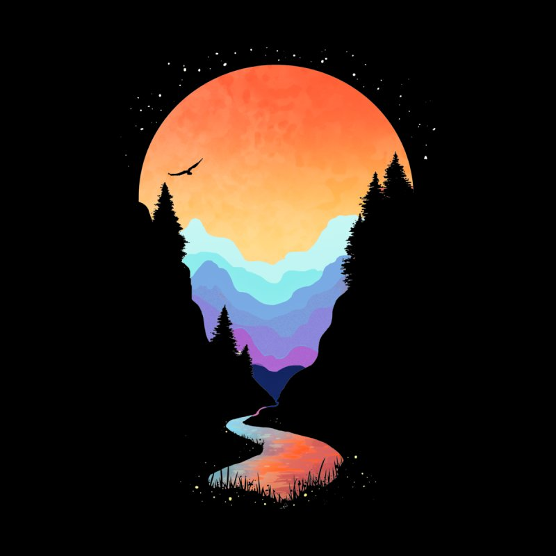 Mountain Stream Men's Longsleeve T-Shirt by Threadless Artist Shop