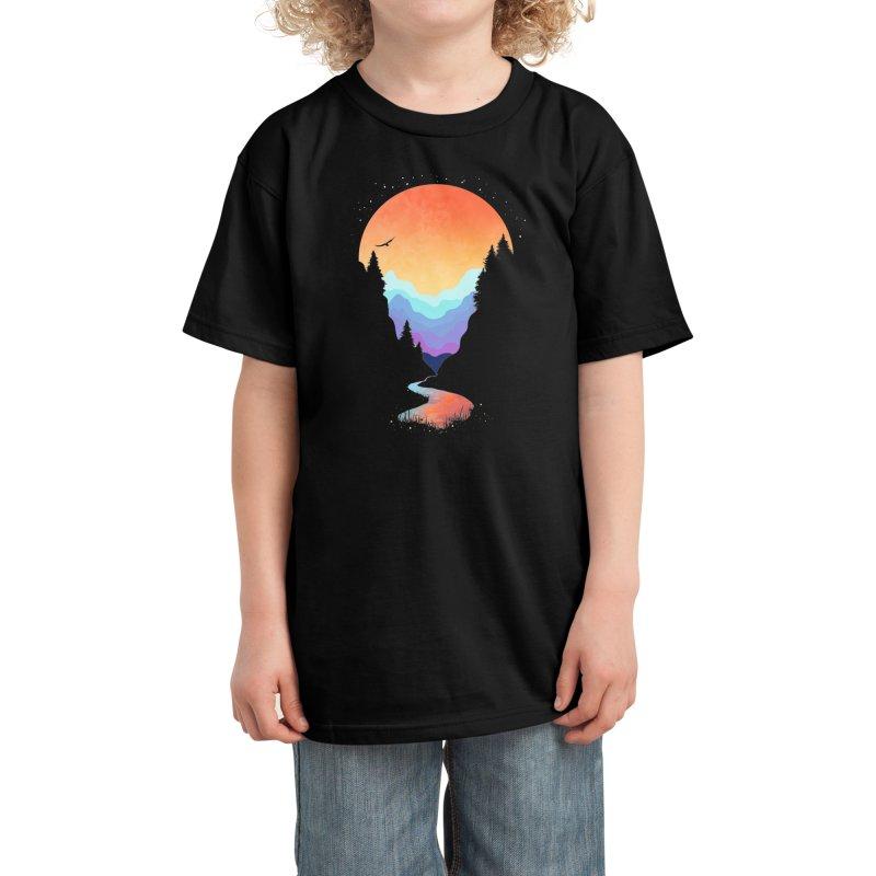 Mountain Stream Kids T-Shirt by Threadless Artist Shop