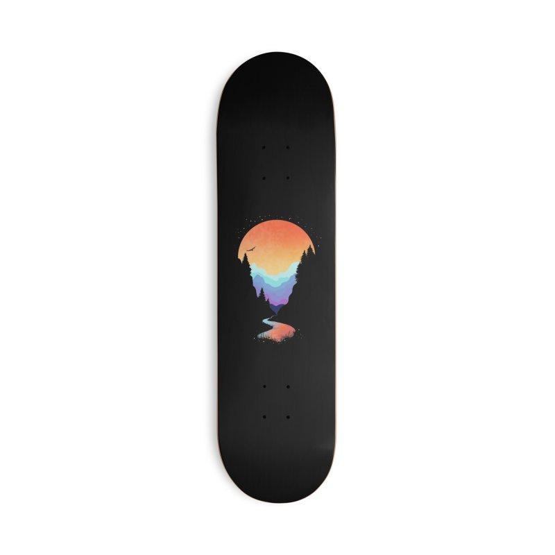 Mountain Stream Accessories Skateboard by Threadless Artist Shop