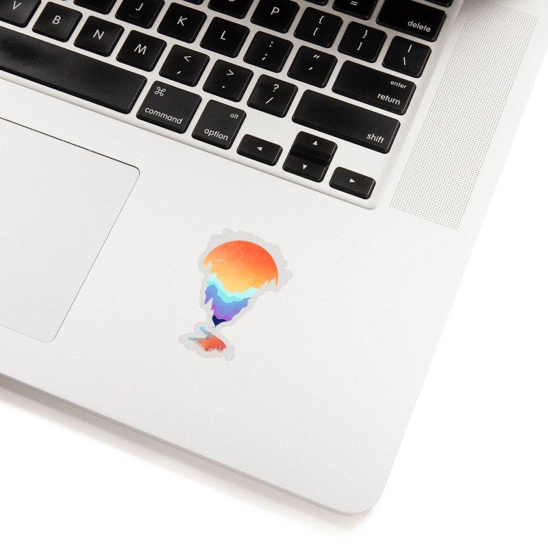 Mountain Stream Accessories Sticker by Threadless Artist Shop