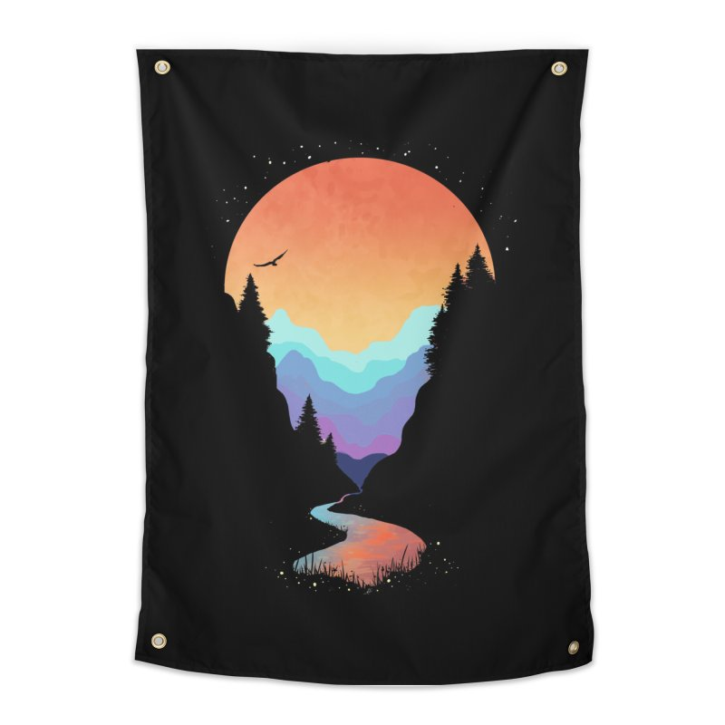 Mountain Stream Home Tapestry by Threadless Artist Shop