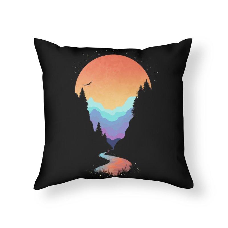Mountain Stream Home Throw Pillow by Threadless Artist Shop
