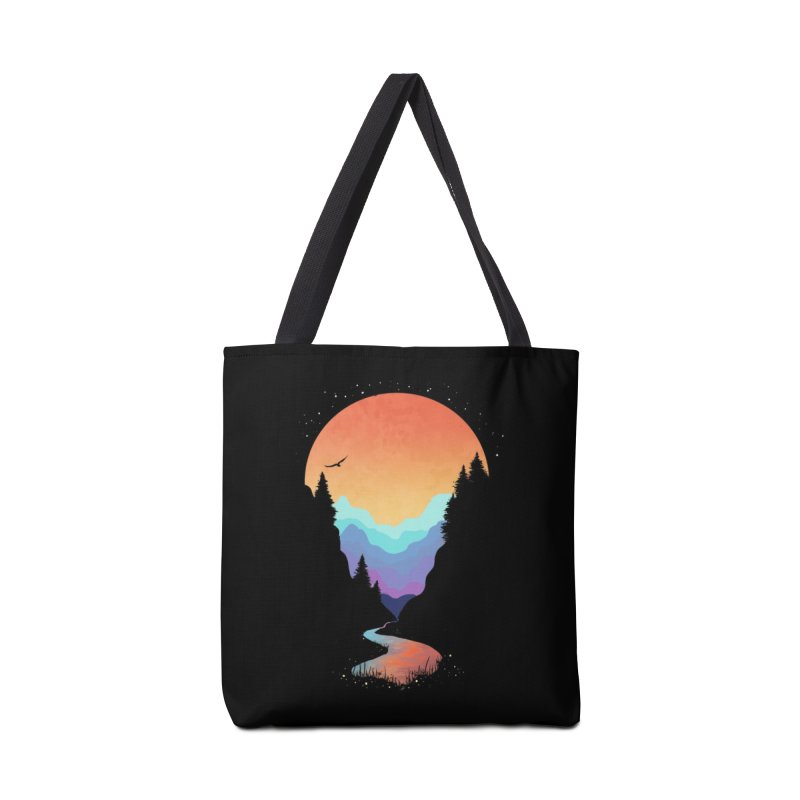 Mountain Stream Accessories Bag by Threadless Artist Shop