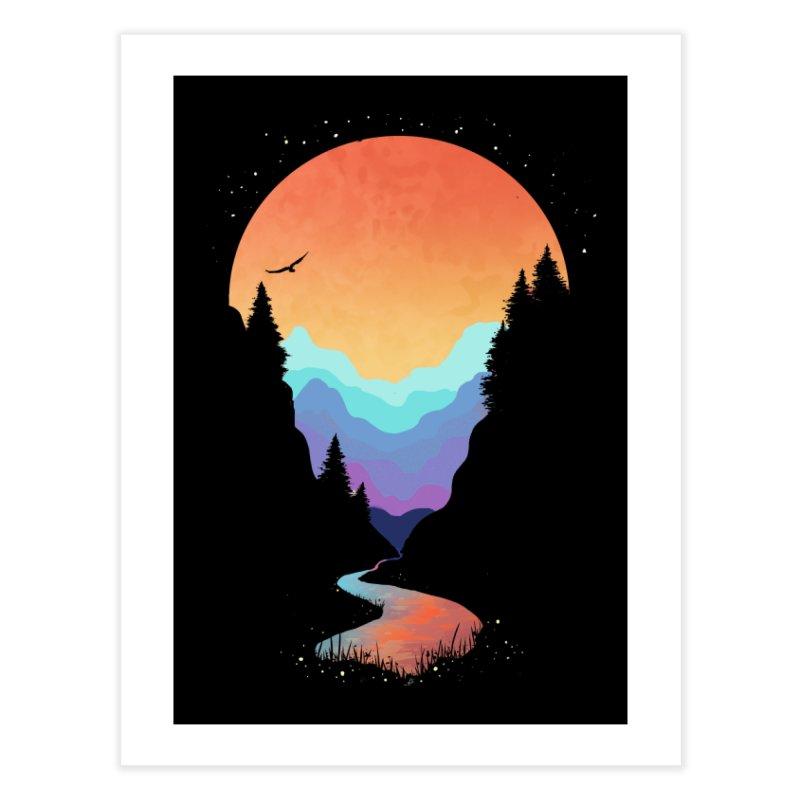 Mountain Stream Home Fine Art Print by Threadless Artist Shop