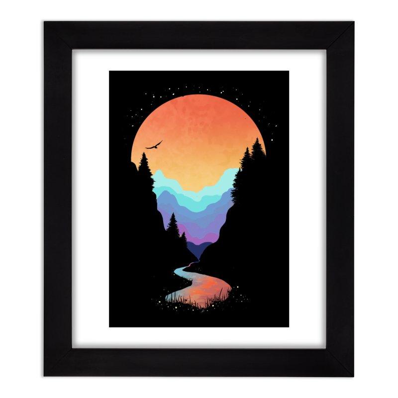 Mountain Stream Home Framed Fine Art Print by Threadless Artist Shop