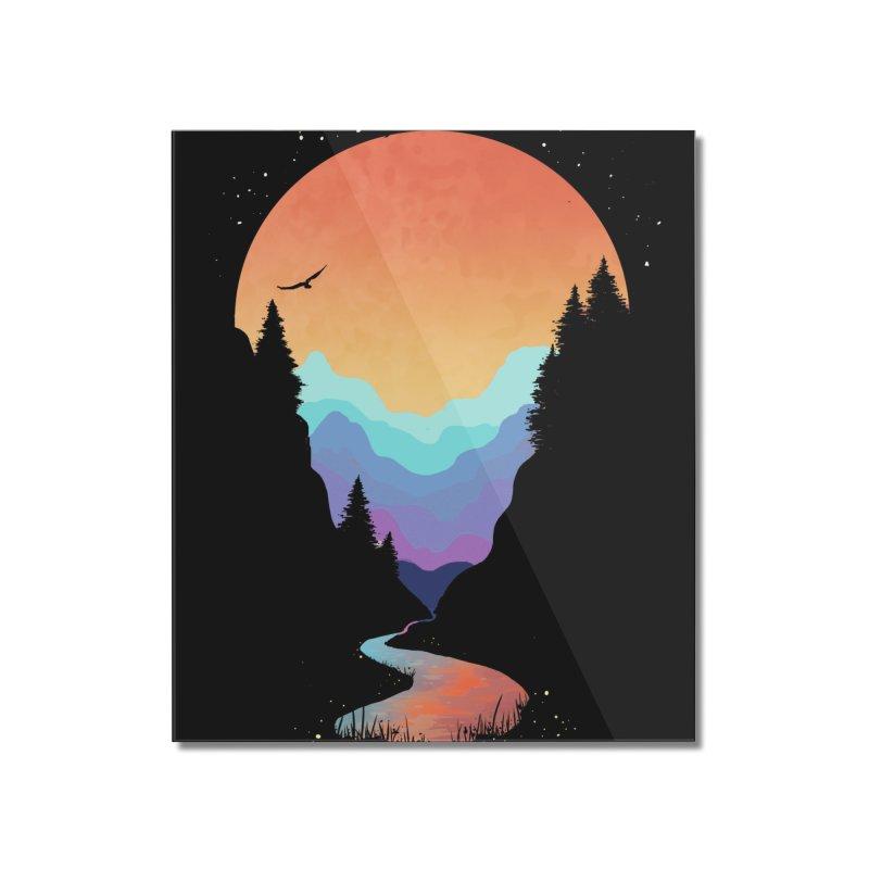 Mountain Stream Home Mounted Acrylic Print by Threadless Artist Shop