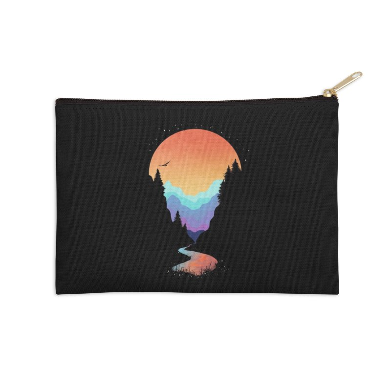 Mountain Stream Accessories Zip Pouch by Threadless Artist Shop