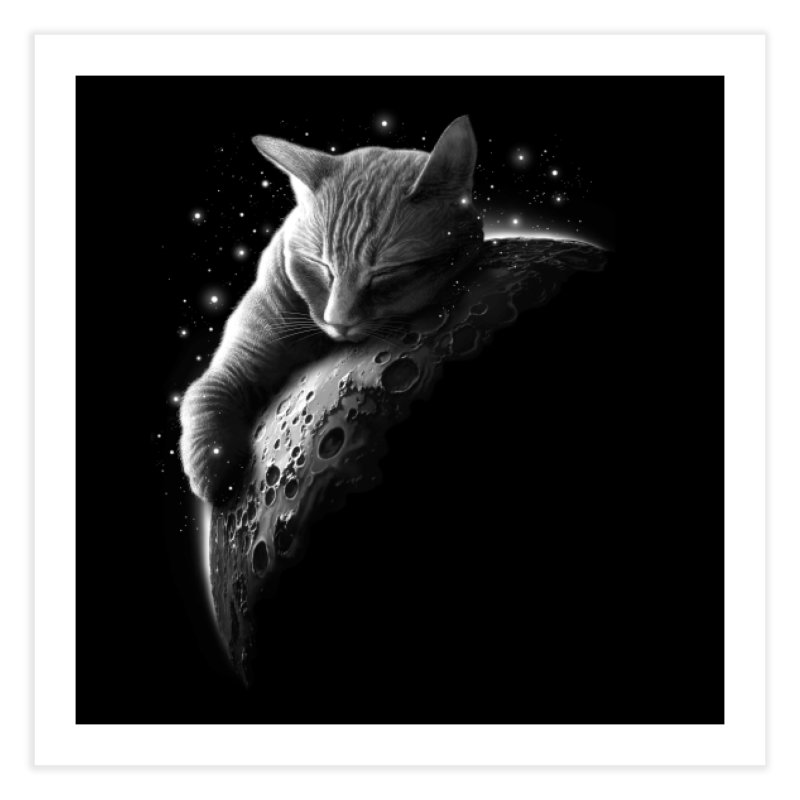 MOONCAT 2018 Home Fine Art Print by Threadless Artist Shop