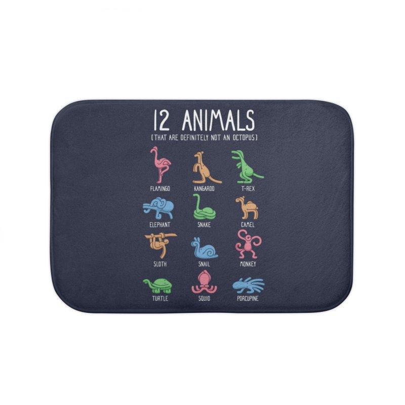 12 Animals (That Are Definitely Not An Octopus) Home Bath Mat by Threadless Artist Shop