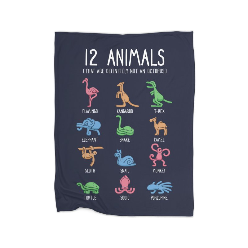 12 Animals (That Are Definitely Not An Octopus) Home Blanket by Threadless Artist Shop