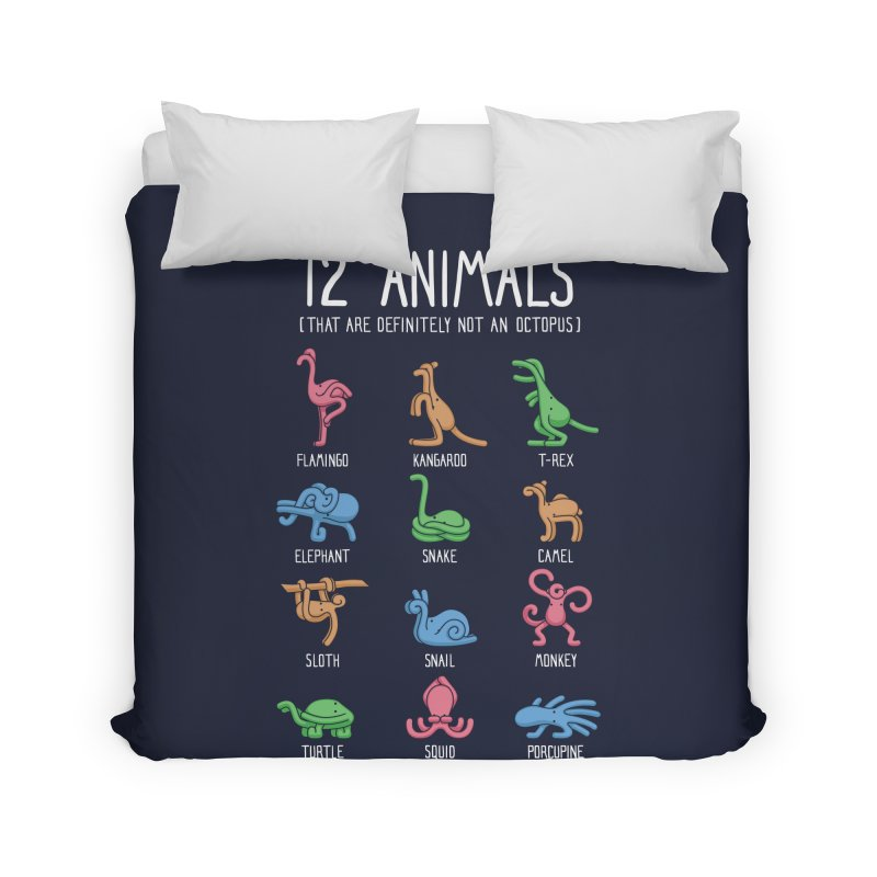 12 Animals (That Are Definitely Not An Octopus) Home Duvet by Threadless Artist Shop
