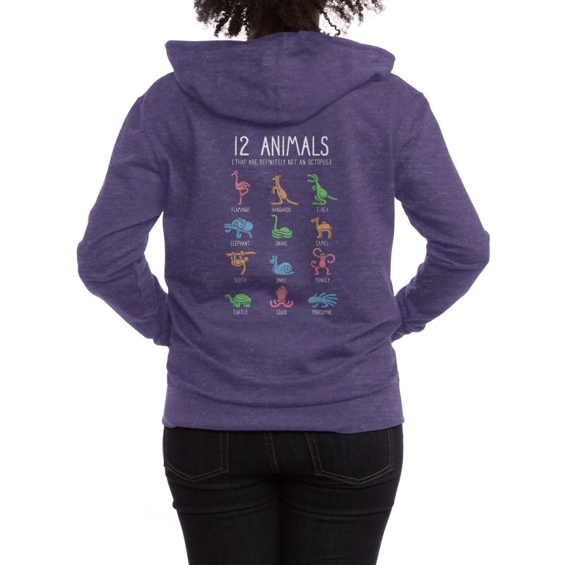 12 Animals (That Are Definitely Not An Octopus) Women's Zip-Up Hoody by Threadless Artist Shop