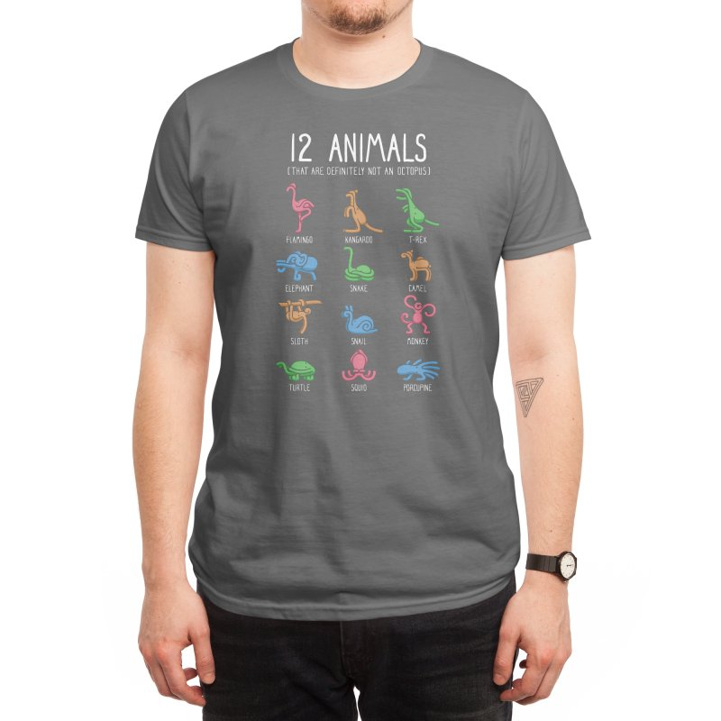 12 Animals (That Are Definitely Not An Octopus) Men's T-Shirt by Threadless Artist Shop