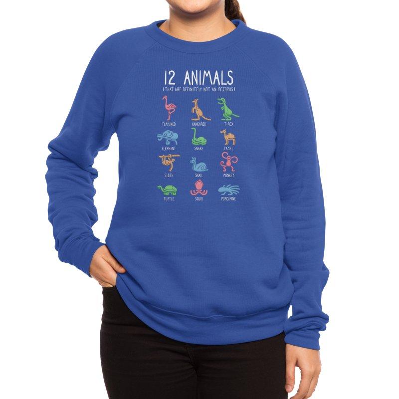 12 Animals (That Are Definitely Not An Octopus) Women's Sweatshirt by Threadless Artist Shop