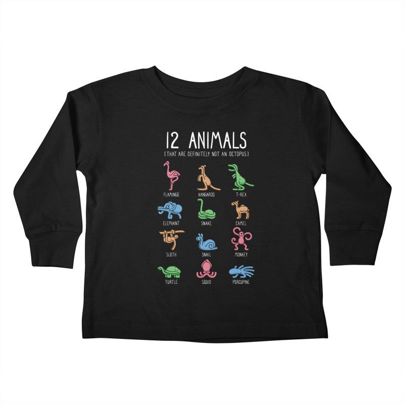 12 Animals (That Are Definitely Not An Octopus) Kids Toddler Longsleeve T-Shirt by Threadless Artist Shop