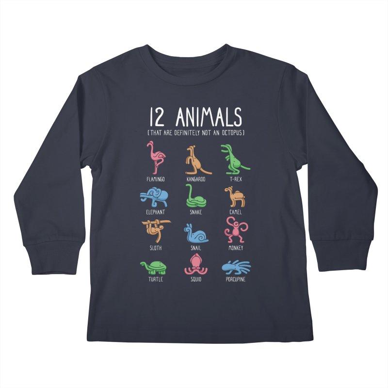 12 Animals (That Are Definitely Not An Octopus) Kids Longsleeve T-Shirt by Threadless Artist Shop