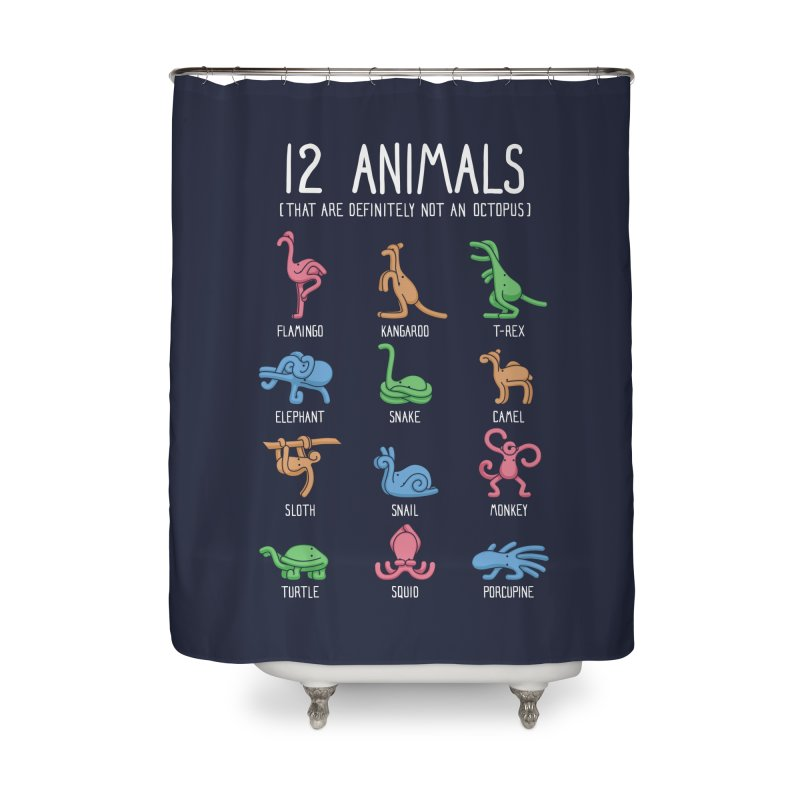 12 Animals (That Are Definitely Not An Octopus) Home Shower Curtain by Threadless Artist Shop