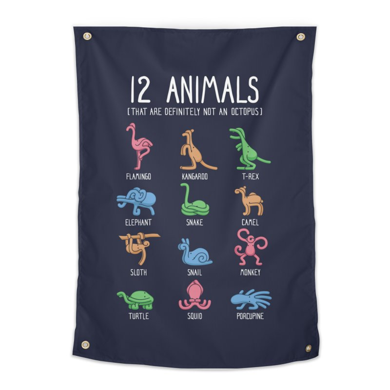 12 Animals (That Are Definitely Not An Octopus) Home Tapestry by Threadless Artist Shop