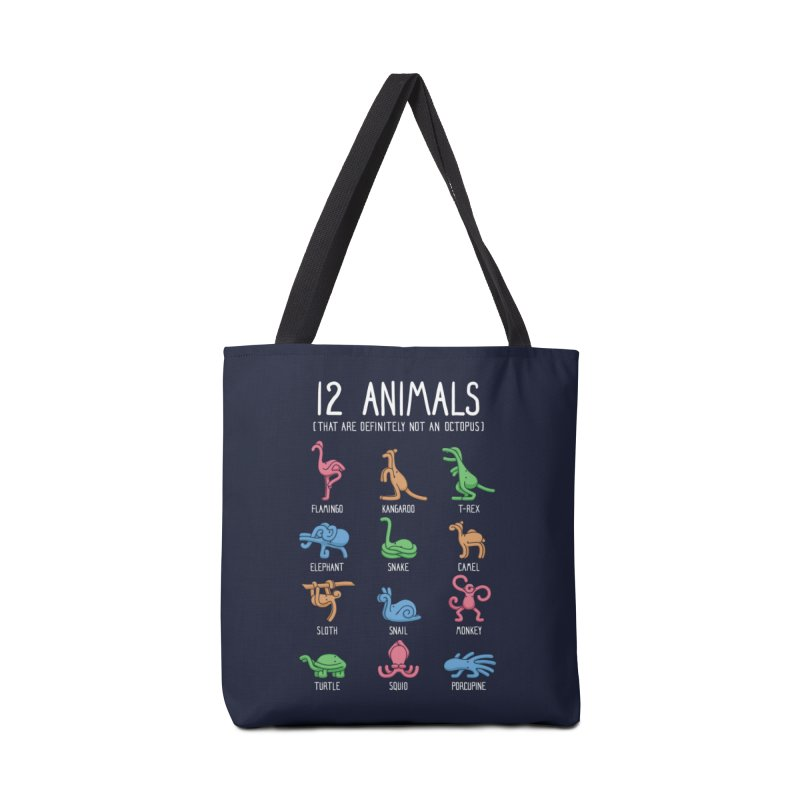 12 Animals (That Are Definitely Not An Octopus) Accessories Bag by Threadless Artist Shop