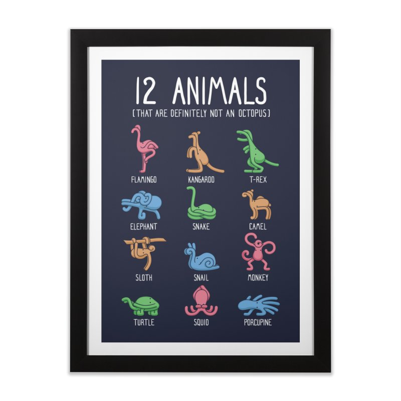 12 Animals (That Are Definitely Not An Octopus) Home Framed Fine Art Print by Threadless Artist Shop