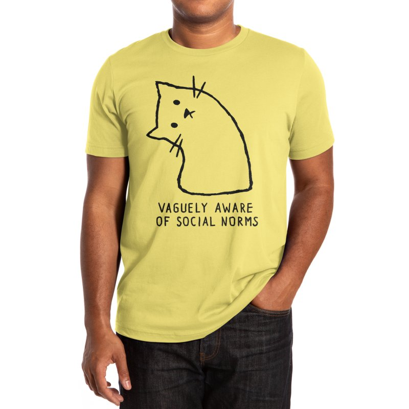 Vaguely Aware of Social Norms Men's T-Shirt by Threadless Artist Shop
